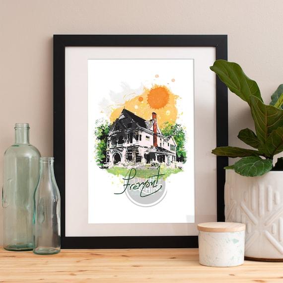 Fremont Print, Fremont Skyline, Fremont Art, Fremont Poster, Fremont Watercolor, Fremont Art Print, Fremont Map, Fremont Wall Art
