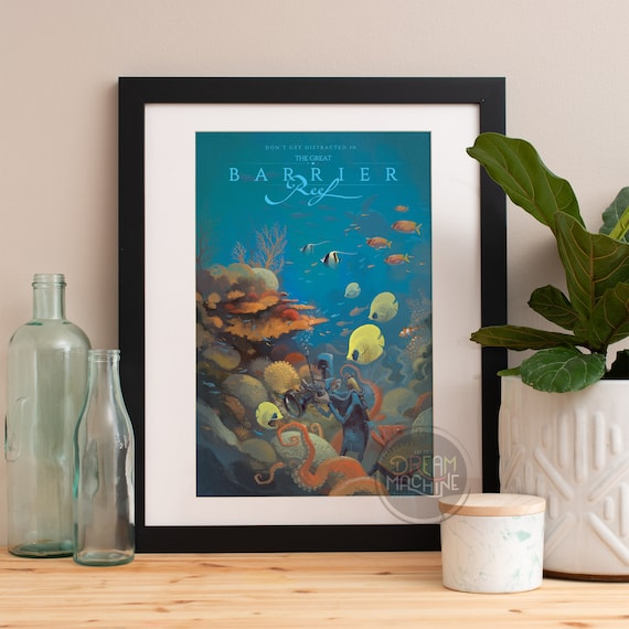 Great Barrier Reef, Great Barrier Reef Poster, Great Barrier Reef Art, Australia Poster, Australia Art, Beach Art, Sydney Australia