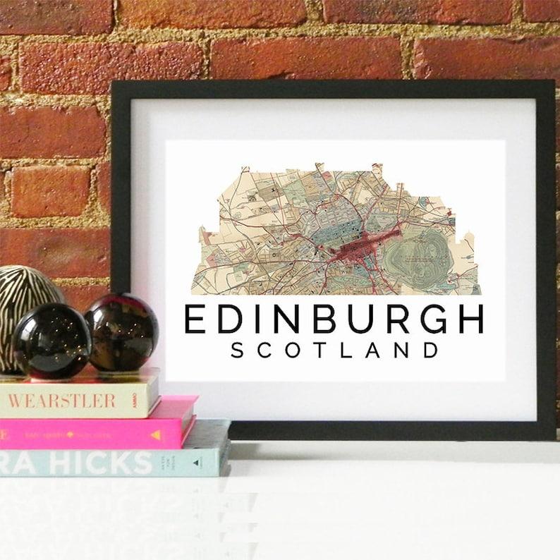 Edinburgh Watercolor Edinburgh Art Print Edinburgh Art Edinburgh Print Edinburgh Poster Edinburgh Skyline Edinburgh Map Edinburgh Art