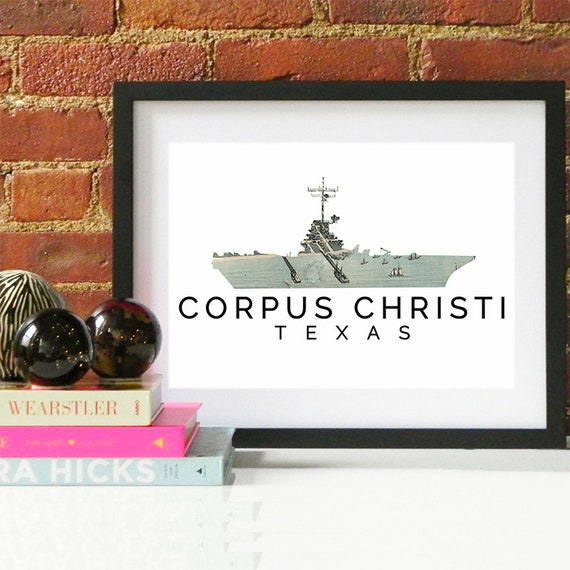 Corpus Christi Print, Corpus Christi Skyline, Corpus Christi Art, Corpus Christi Poster, Corpus Christi Watercolor, Corpus Christi Art Print