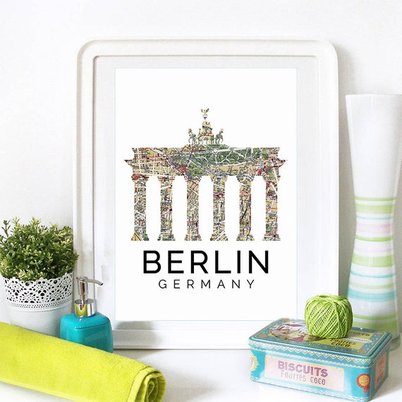 Berlin Print, Berlin Skyline, Berlin Art, Berlin Poster, Berlin Watercolor, Berlin Art Print, Berlin Map, Berlin Wall Art, Germany Art