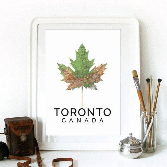 Toronto Print, Toronto Skyline, Toronto Art, Toronto Poster, Toronto Watercolor, Toronto Art Print, Toronto Map, Toronto Wall Art
