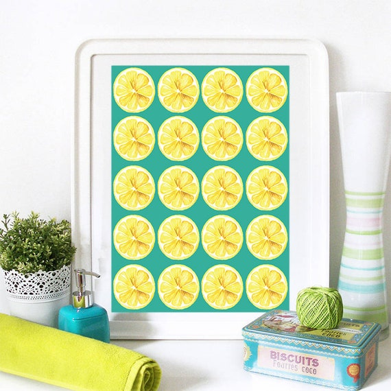 Motivational Poster Lemons Colorful Poster Art Print colorful Motivational Poster Whimsical Poster