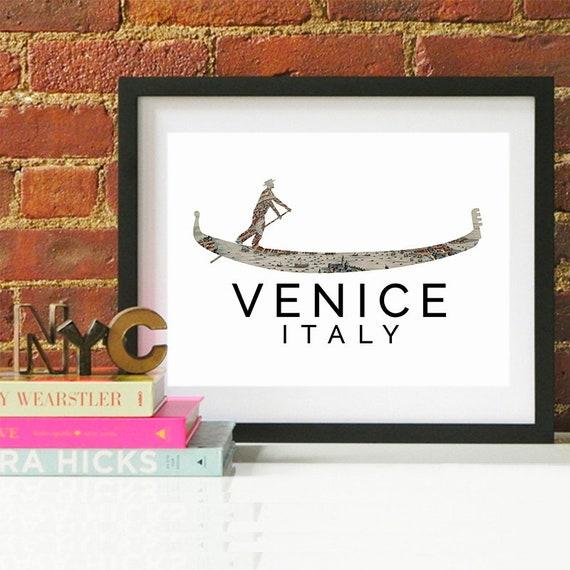 Venice Print, Venice Skyline, Venice Art, Venice Poster, Venice Watercolor, Venice Art Print, Venice Map, Venice Wall Art, Venice Italy