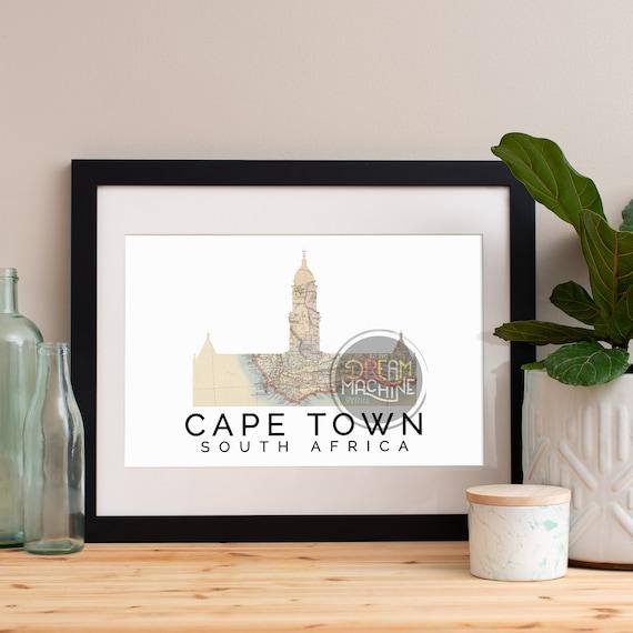 Cape Town Print, Cape Town Skyline, Cape Town Art, Cape Town Poster, Cape Town Watercolor, Cape Town Art Print, Cape Town Map, Cape Town Art