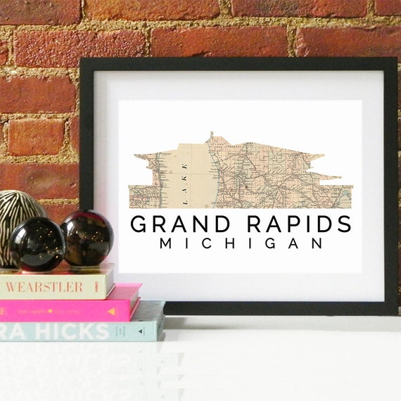 Grand Rapids Print, Grand Rapids Skyline, Grand Rapids Art, Grand Rapids Poster, Grand Rapids Watercolor, Grand Rapids Art Print