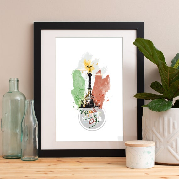 Mexico City Print, Mexico City Skyline, Mexico City Art, Mexico City Poster, Mexico City Watercolor, Mexico City Art Print, Mexico City Map
