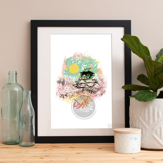 Osaka Print, Osaka Skyline, Osaka Art, Osaka Poster, Osaka Watercolor, Osaka Art Print, Osaka Map, Osaka Wall Art, Osaka Japan