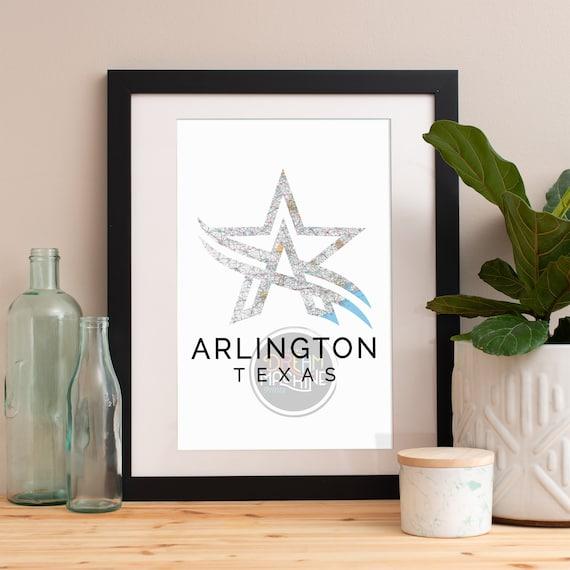 Arlington Print, Arlington Skyline, Arlington Art, Arlington Poster, Arlington Watercolor, Arlington Art Print, Arlington Map, Arlington Art