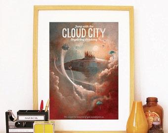 Star Wars Art, Star Wars Wall Art, Star Wars Cloud City, Cloud City, Star Wars Gift, Star Wars Art Print, Star Wars Poster, Star Wars Print