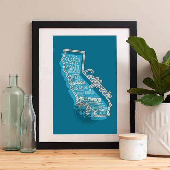 California State Print California Art California Poster California Print