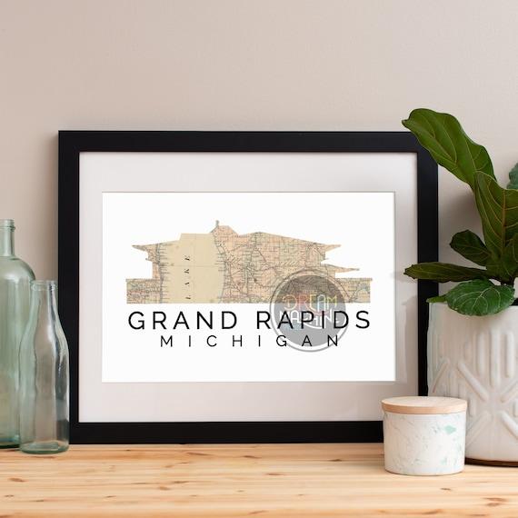 Grand Rapids Print, Grand Rapids Skyline, Grand Rapids Art, Grand Rapids Poster, Grand Rapids Watercolor, Grand Rapids Art Print