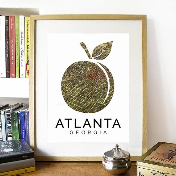 Atlanta Print, Atlanta Skyline, Atlanta Art, Atlanta Poster, Atlanta Watercolor, Atlanta Art Print, Atlanta Map, Atlanta Wall Art, Georgia