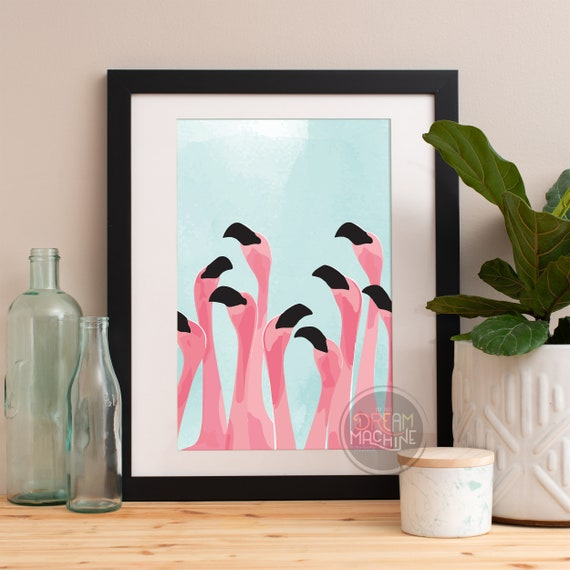 Motivational Poster Flamingos Colorful Poster Art Print colorful Motivational Poster Whimsical Poster