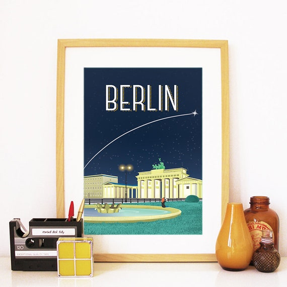 Berlin Print, Berlin Skyline, Berlin Art, Berlin Poster, Berlin Watercolor, Berlin Art, Berlin Map, Berlin Wall Art, Germany Art