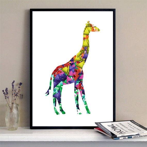 Giraffe Print Watercolor Triangles