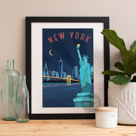 New York City Print, New York City Skyline, New York City Art, New York City Poster, New York City Watercolor, New York City Art