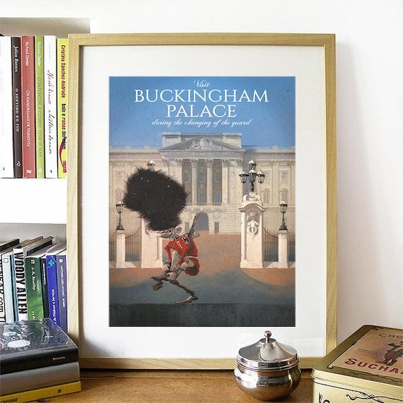 Buckingham Palace, Buckingham Palace Poster, Buckingham Palace Art, Buckingham Palace Print, London Art, London Print, London Poster