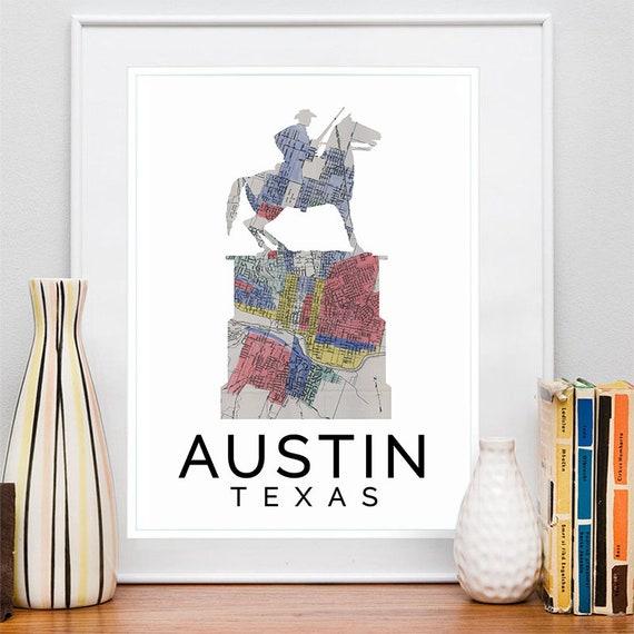 Austin Print, Austin Skyline, Austin Art, Austin Poster, Austin Watercolor, Austin Art Print, Austin Map, Austin Wall Art, Austin Texas