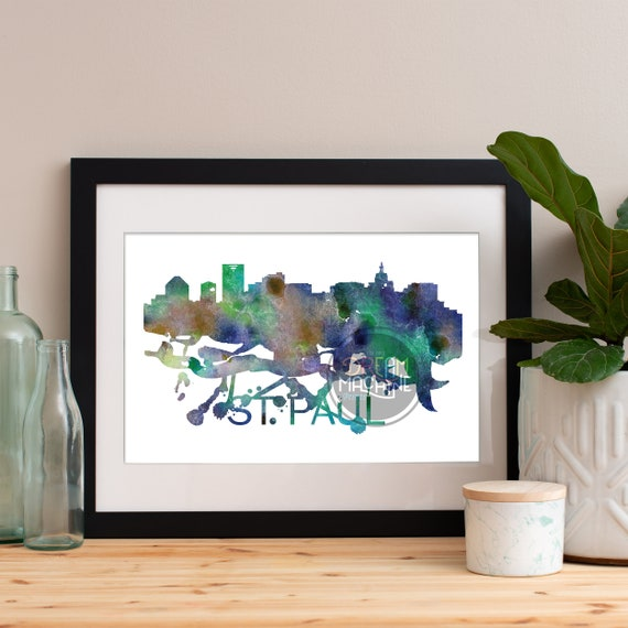 Saint Paul Watercolor Skyline, Saint Paul Skyline, Saint Paul Art, Saint Paul Poster, Saint Paul Print, Saint Paul Art, Saint Paul Map