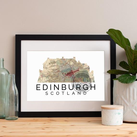 Edinburgh Print, Edinburgh Skyline, Edinburgh Art, Edinburgh Poster, Edinburgh Watercolor, Edinburgh Art Print, Edinburgh Map, Edinburgh Art