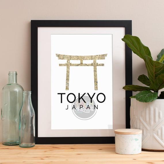 Tokyo Print, Tokyo Skyline, Tokyo Art, Tokyo Poster, Tokyo Watercolor, Tokyo Art Print, Tokyo Map, Tokyo Wall Art