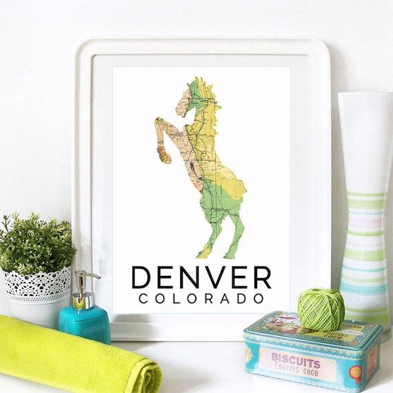 Denver Print, Denver Skyline, Denver Art, Denver Poster, Denver Watercolor, Denver Art Print, Denver Map, Denver Wall Art, Denver Colorado
