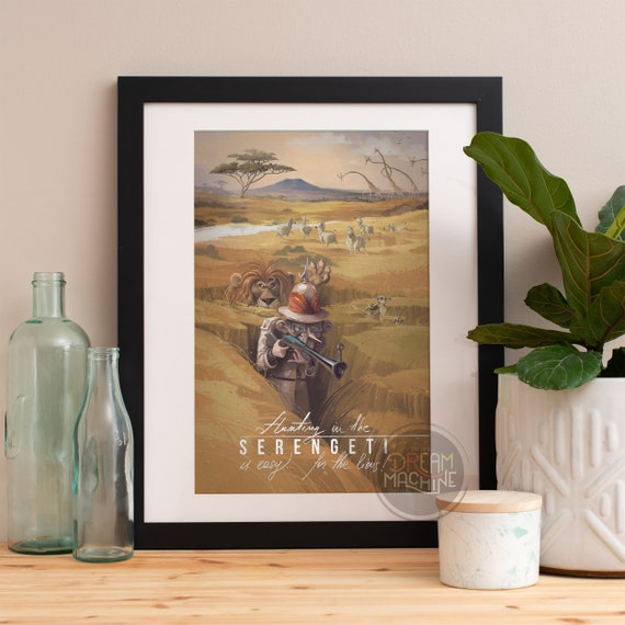 Serengeti, Africa Poster, Africa Art, Safari Art, Nursery Art, Safari Nursery, Safari Wall Art, South Africa Art, Lion Art, Giraffe Art