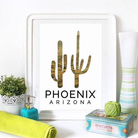 Phoenix Print, Phoenix Skyline, Phoenix Art, Phoenix Poster, Phoenix Watercolor, Phoenix Art Print, Phoenix Map, Phoenix Wall Art