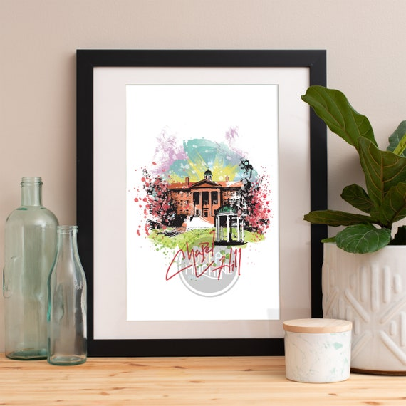 Chapel Hill Print, Chapel Hill Skyline, Chapel Hill Art, Chapel Hill Poster, Chapel Hill Watercolor, Chapel Hill Art Print, Chapel Hill Map