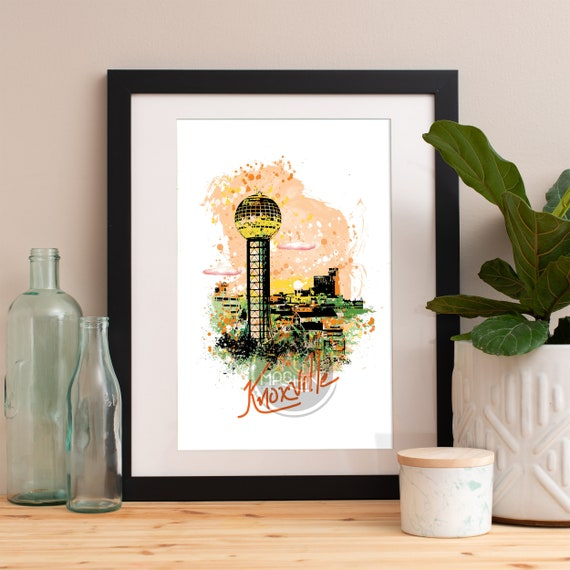 Knoxville Print, Knoxville Skyline, Knoxville Art, Knoxville Poster, Knoxville Watercolor, Knoxville Art Print, Knoxville Map, Knoxville