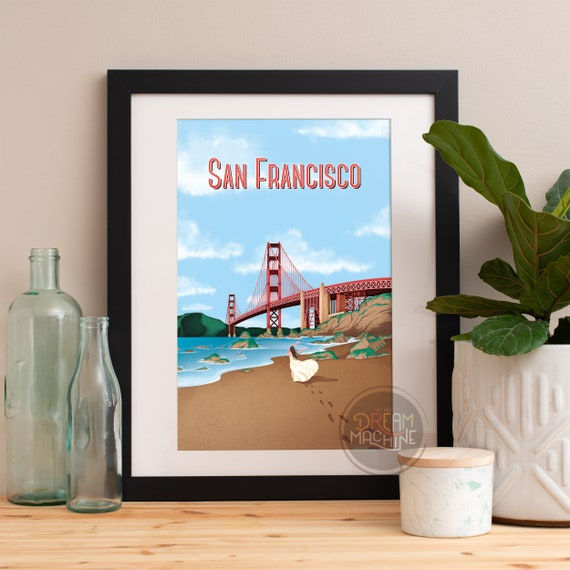 San Francisco Print, San Francisco Skyline, San Francisco Art, San Francisco Poster, San Francisco Watercolor, San Francisco Art