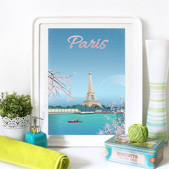 Paris Eiffel Art Print, Paris Skyline, Paris Art, Paris Poster, Paris Print, Paris Art, Paris Map, Paris Wall Art, France Art, Paris Skyline