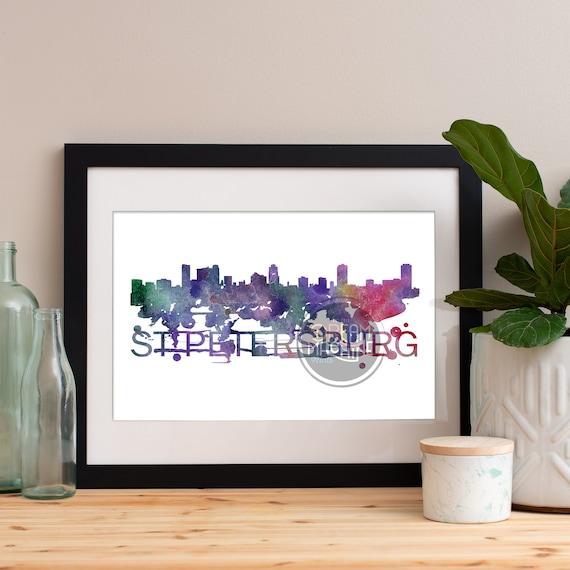 Saint Petersburg Watercolor Skyline, Saint Petersburg Skyline, Saint Petersburg Art, Saint Petersburg Poster, Saint Petersburg Print