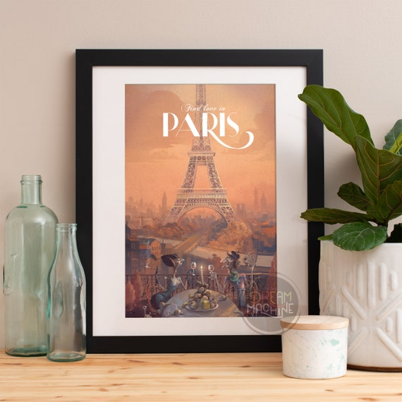Paris Print, Paris Bedroom Decor, Paris Wall Art, Eiffel Tower Decor, Paris Skyline, Eiffel Tower Print, Paris Decor, Bedroom Decor
