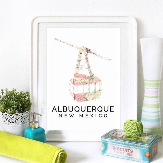 Albuquerque Print, Albuquerque Skyline, Albuquerque Art, Albuquerque Poster, Albuquerque Watercolor, Albuquerque Art Print