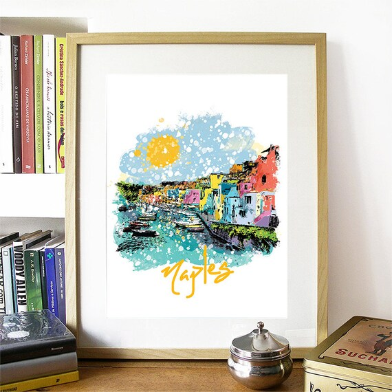 Naples Print, Naples Skyline, Naples Art, Naples Poster, Naples Watercolor, Naples Art Print, Naples Map, Naples Wall Art