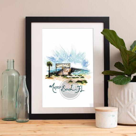Mexico Beach Pier Print, Mexico Beach Pier Skyline, Mexico Beach Pier Art, Mexico Beach Pier Poster, Port St. Joe
