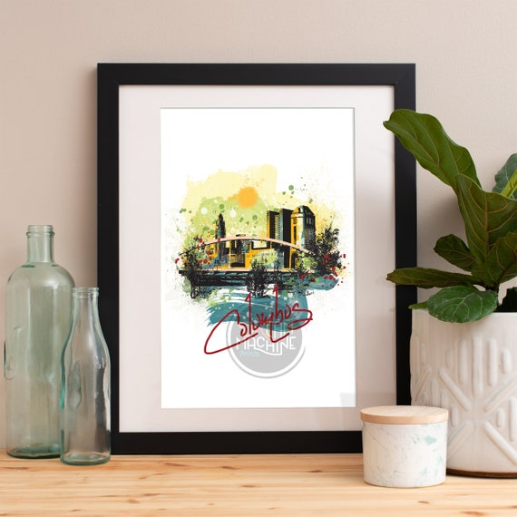 Columbus Print, Columbus Skyline, Columbus Art, Columbus Poster, Columbus Watercolor, Columbus Art Print, Columbus Map, Columbus Wall Art