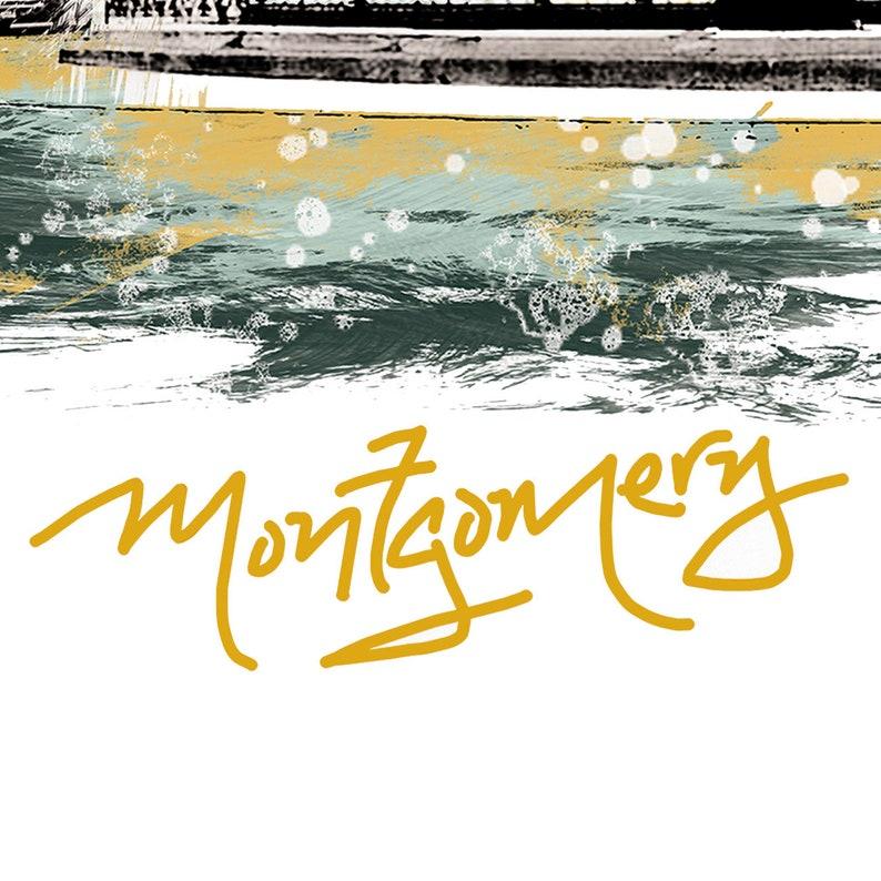 Montgomery Art Montgomery Art Print Montgomery Watercolor Montgomery Skyline Montgomery Poster Montgomery Print Montgomery Map