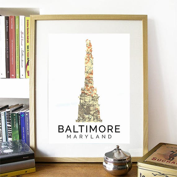 Baltimore Print, Baltimore Skyline, Baltimore Art, Baltimore Poster, Baltimore Watercolor, Baltimore Art Print, Baltimore Map, Baltimore