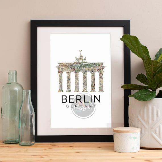 Berlin Print, Berlin Skyline, Berlin Art, Berlin Poster, Berlin Watercolor, Berlin Art Print, Berlin Map, Berlin Wall Art, Germany Art