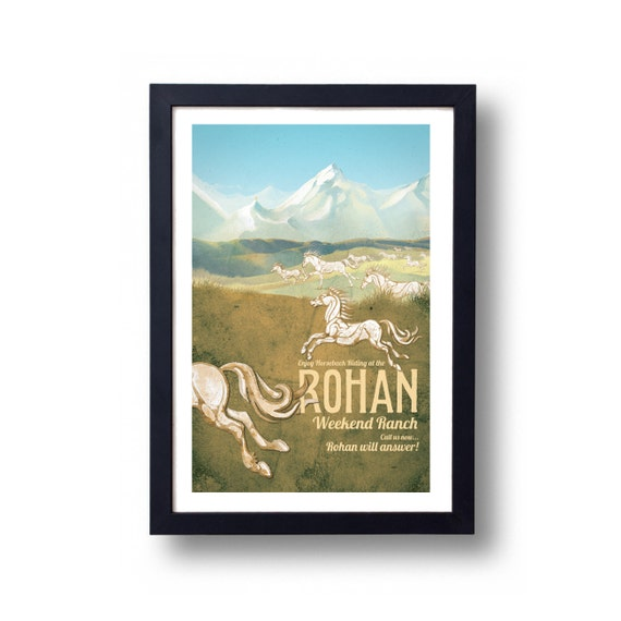 Lord of the Rings Poster Rohan Weekend Ranch Travel Poster, Lord of the Rings Art, Lord of the Rings, LOTR, LOTR Art, LOTR Poster, Rohan