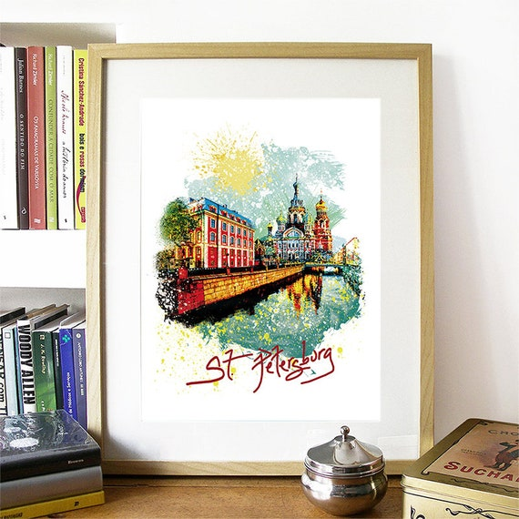 Saint Petersburg Print, Saint Petersburg Skyline, Saint Petersburg Art, Saint Petersburg Poster, Saint Petersburg Russia Art