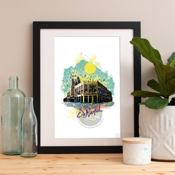 Oakland Print, Oakland Skyline, Oakland Art, Oakland Poster, Oakland Watercolor, Oakland Art Print, Oakland Map, Oakland Wall Art