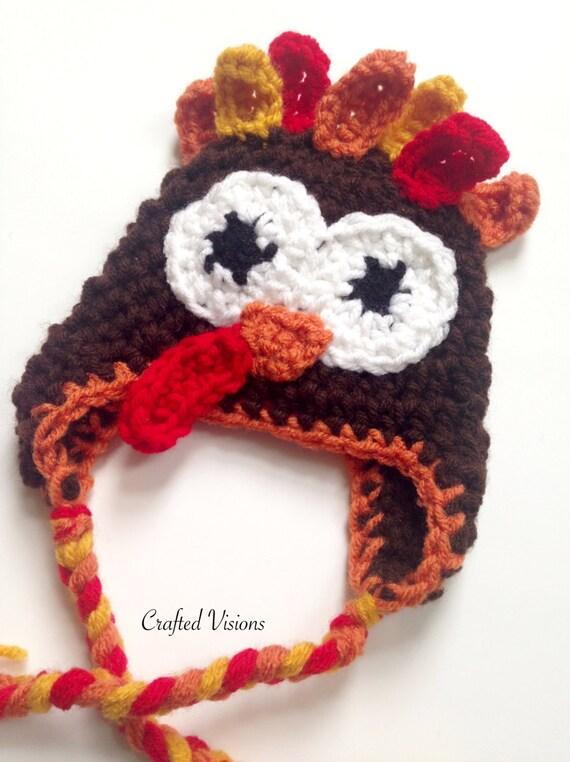 PATTERN Crochet Turkey Hat Pattern Turkey hat All Sizes | Etsy