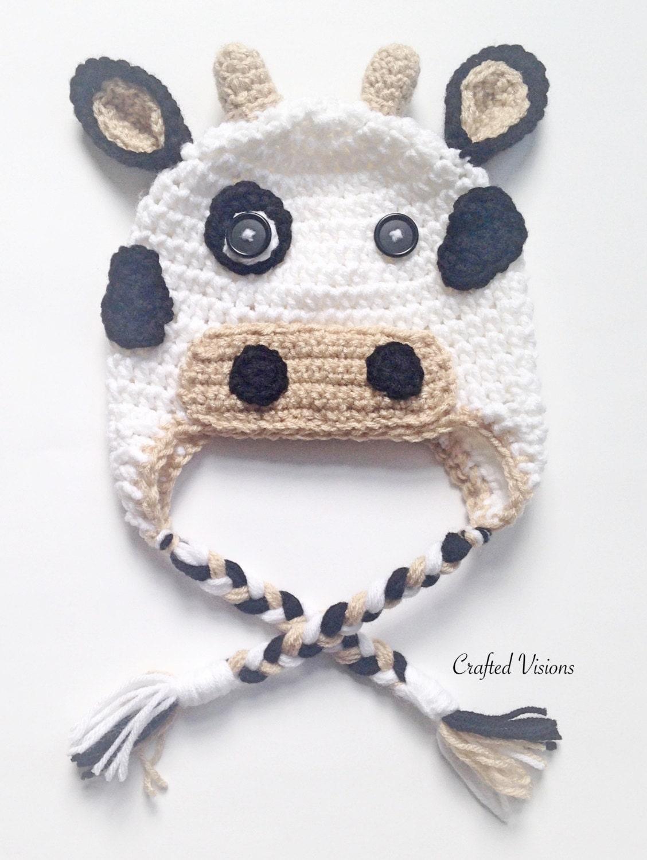PATTERN Crochet Cow Hat Pattern Cow Hat Crochet Hat | Etsy