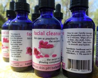 Facial Cleanse--rose petal 2 OZ