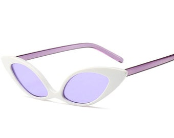 fac19230fcec Retro Ladies Cat Eye 50 s Vintage Style Small Oval Polarized Sun Glasses  Shades - More Colors!