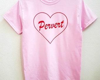 4388826a022b4 Soft Cute Pink Pervert Heart Unisex Instagram Tee T-Shirt